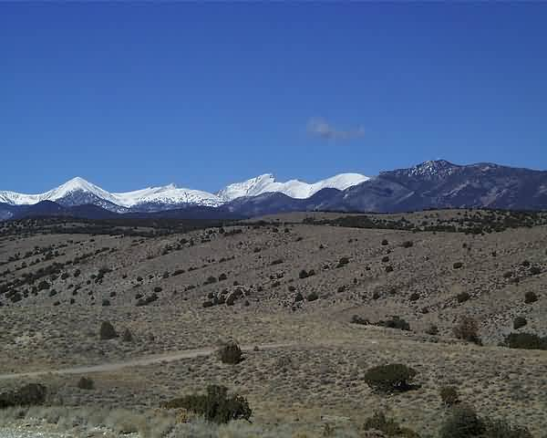 Great Basin National Park from Valley