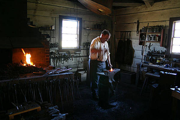 Blacksmith at Fort Vancouver, Washington