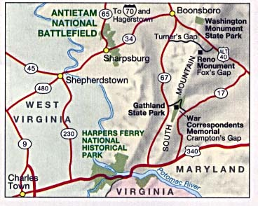 Antietam National Battlefield Area Map