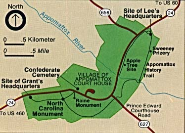 Appomattox Court House National Historical Park Area Map