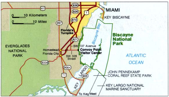 Biscayne National Park Area Map