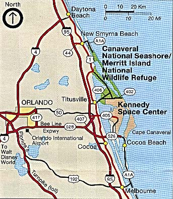 Canaveral National Seashore Area Map