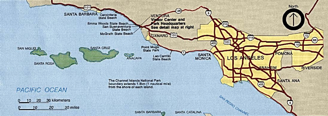 Channel Islands National Park Area Map