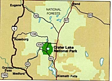 Crater Lake National Park Area Map
