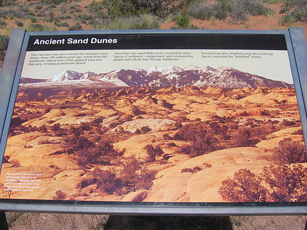 """Ancient Sand Dunes"" Sign"