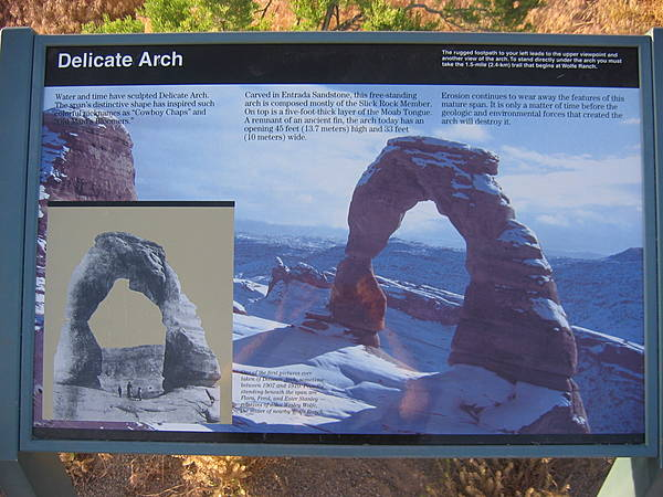 """Delicate Arch"" Sign"