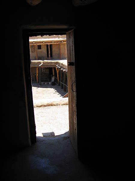 View Through Doorway of Courtyard