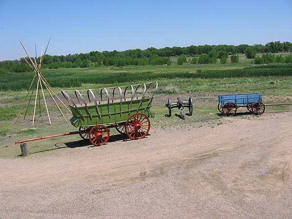 Teepee, Wagons, & Cannon
