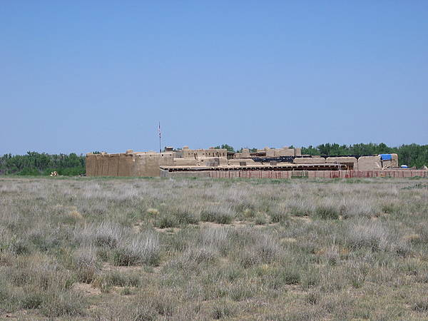 Rear View of Bent's Fort