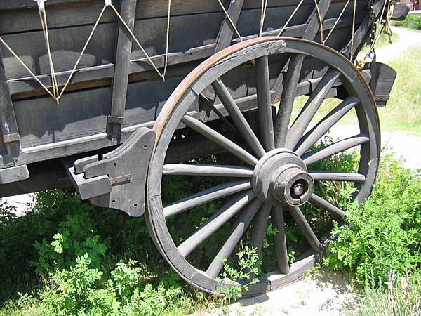 Brake on Conestoga Wagon