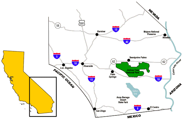 Joshua Tree National Area Map