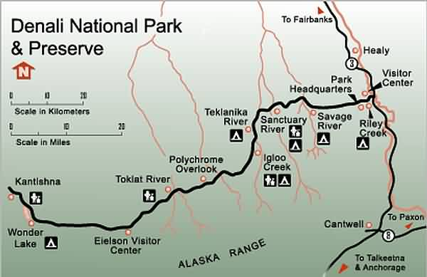 Denali National Park Campground Map