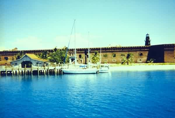 Boat Pier & Fort Jefferson