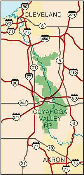 Cuyahoga Valley National Park Area Map
